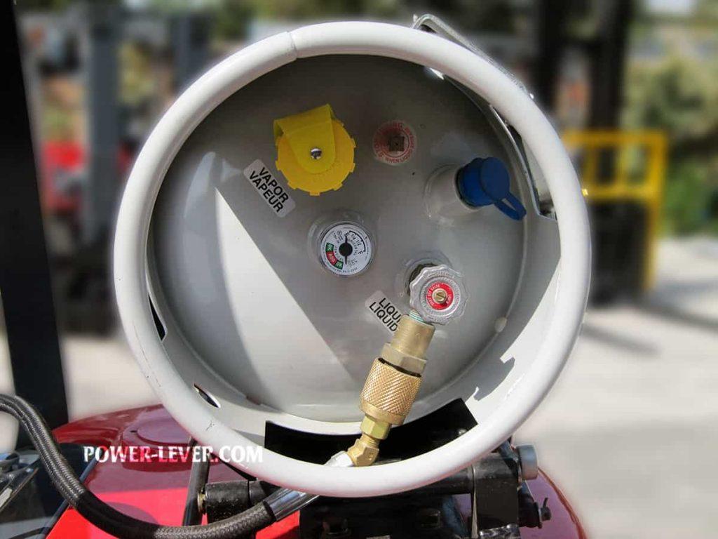 کپسول گاز لیفتراک 3.5 تن دوگانه جک